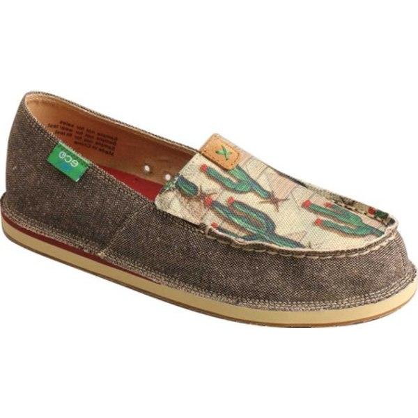 ツイステッド エックス レディース スリッポン・ローファー シューズ WCL0010 Slip On Moc Toe Loafer Dust/Cactus Print Eco Fabric