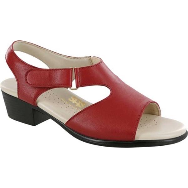 エスエーエス レディース サンダル シューズ Suntimer Heeled Sandal Red Leather