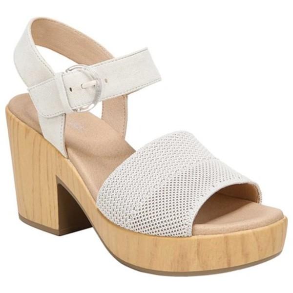 ドクターショール レディース サンダル シューズ Brickell Eco Platform Sandal Tofu Leather/Engineered Knit