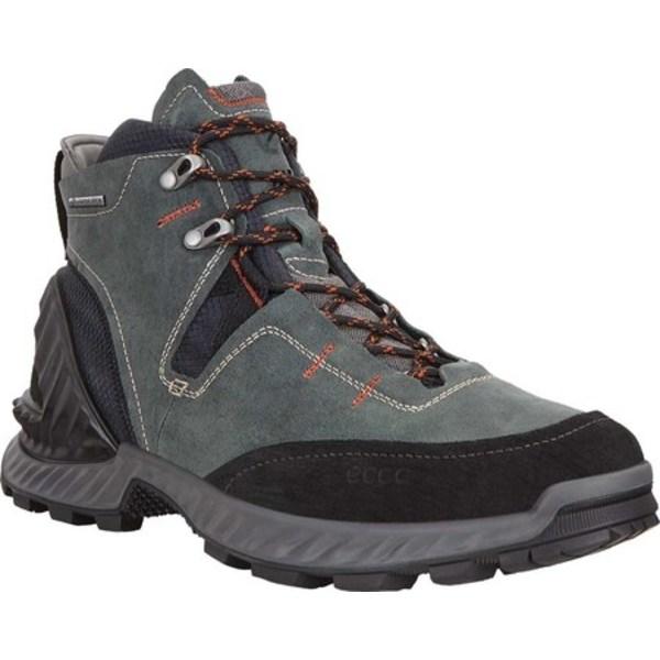 エコー メンズ ブーツ&レインブーツ シューズ Exohike High GORE-TEX Hiking Boot Black/Lake Nubuck
