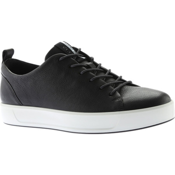エコー メンズ スニーカー シューズ Soft 8 Lace Up Sneaker Black Cow Leather