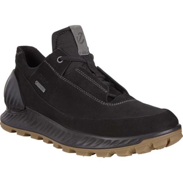 エコー メンズ スニーカー シューズ Exostrike Low GORE-TEX Outdoor Sneaker Black Yak Nubuck