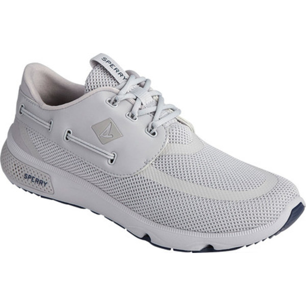 トップサイダー メンズ スニーカー シューズ 7 Seas Carbon Boat Sneaker Grey/Navy Mesh