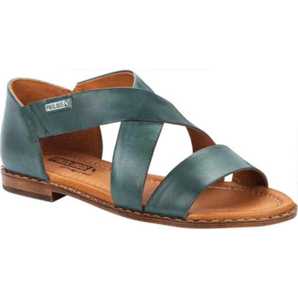 ピコリーノス レディース サンダル シューズ Algar Strappy Sandal W0X-0552 Emerald Calfskin