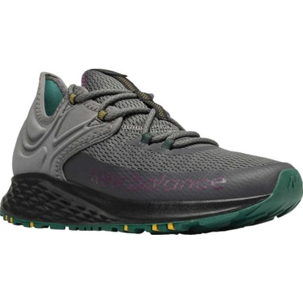 ニューバランス メンズ スニーカー シューズ Fresh Foam Roav Trail Running Shoe Castlerock/Black/Mirage Green