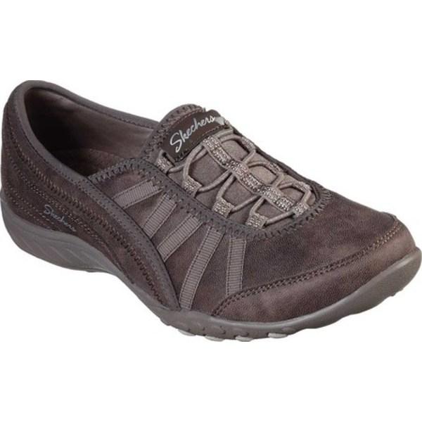 スケッチャーズ レディース オックスフォード シューズ Relaxed Fit Breathe-Easy Adoring Sneaker Dark Taupe