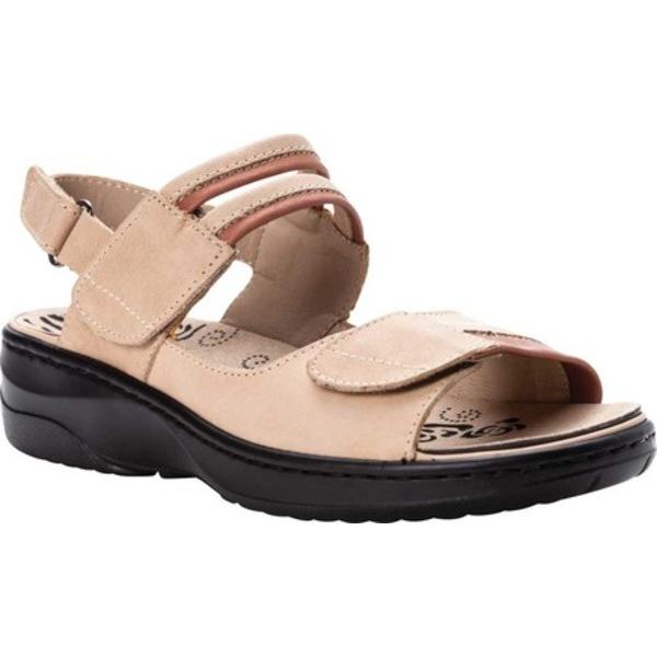 プロペット レディース サンダル シューズ Greta Adjustable Strap Sandal Bisque Leather