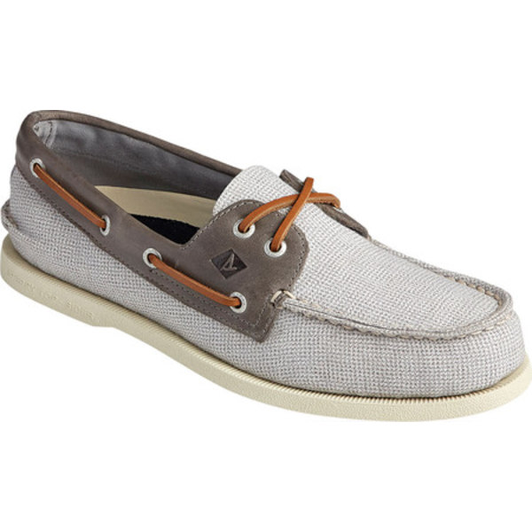 トップサイダー メンズ デッキシューズ シューズ Authentic Original 2-Eye Gingham Boat Shoe Grey/Grey Leather/Textile