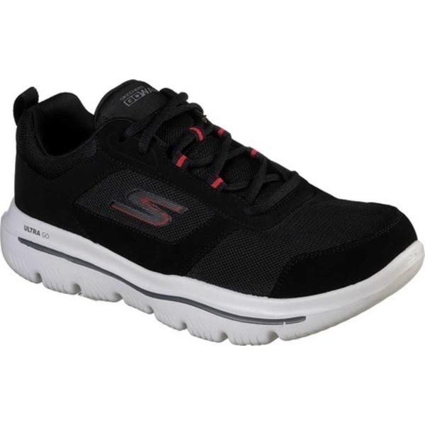 スケッチャーズ メンズ スニーカー シューズ GOwalk Evolution Ultra Enhance Walking Shoe Black/Red