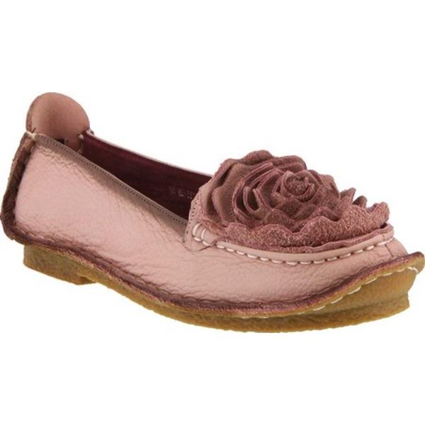 スプリングステップ レディース スニーカー シューズ Dezi Slip-On Pink Leather