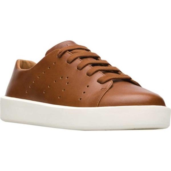 カンペール メンズ スニーカー シューズ Courb Low Top Sneaker Medium Brown Full Grain Leather