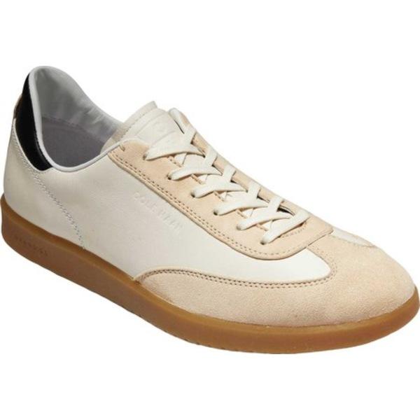 コールハーン メンズ スニーカー シューズ GrandPro Tennis Sneaker Ivory/Pumice Stone Tumbled Suede