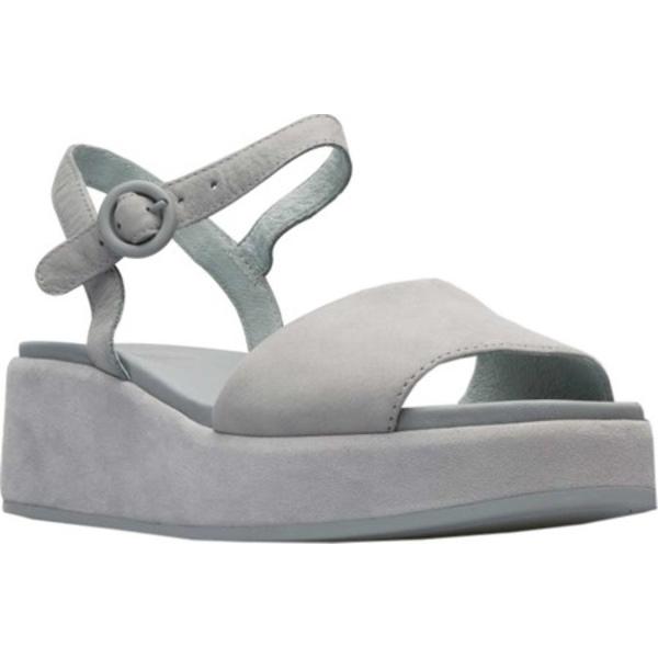 カンペール レディース スニーカー シューズ Misia Platform Sandal Light Pastel Grey Leather