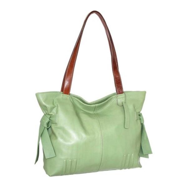 ニノボッシ レディース ハンドバッグ バッグ Amirah Leather Satchel Leaf