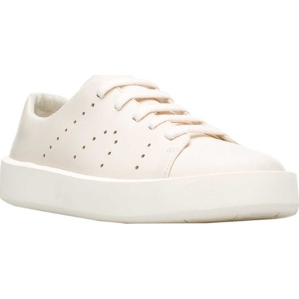 カンペール メンズ スニーカー シューズ Courb Low Top Sneaker Light Beige Full Grain Leather