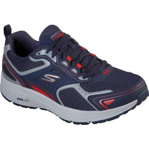 スケッチャーズ メンズ スニーカー シューズ GOrun Consistent Running Shoe Navy/Red