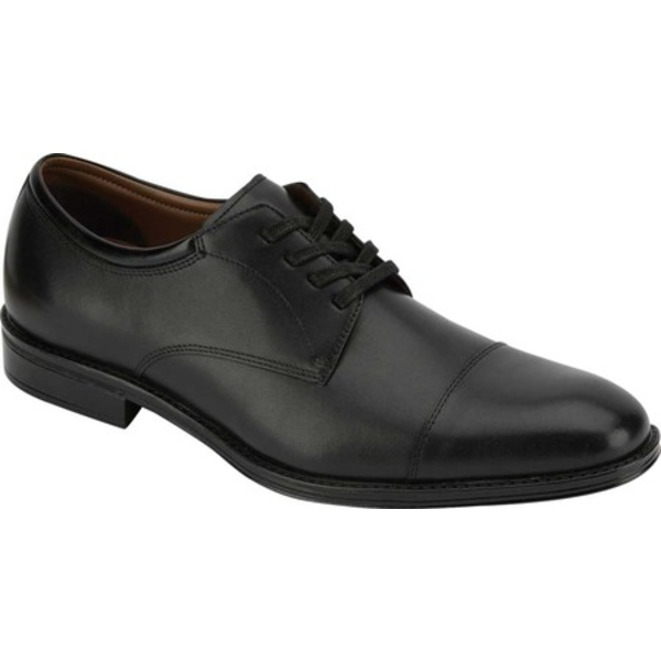 ドッカーズ メンズ ドレスシューズ シューズ Pierdon Cap Toe Oxford Black Polished Full Grain Leather