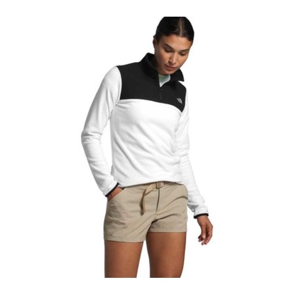 ノースフェイス レディース パーカー・スウェットシャツ アウター TKA Glacier 1/4 Zip Pullover TNF White/TNF Black