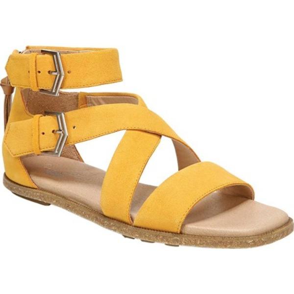 ドクターショール レディース サンダル シューズ Pasadena Strappy Sandal Gold Yellow Kid Suede
