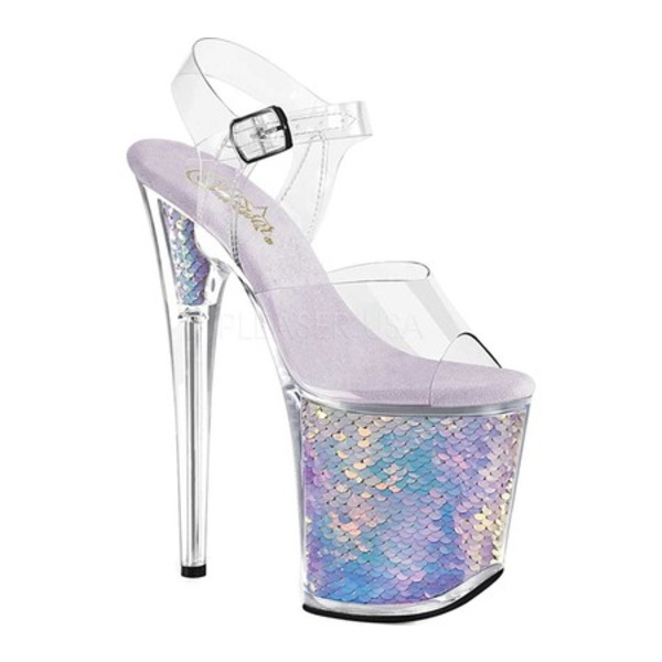 プリーザー レディース サンダル シューズ Flamingo 808MC Ankle Strap Sandal Clear/Lavender Synthetic