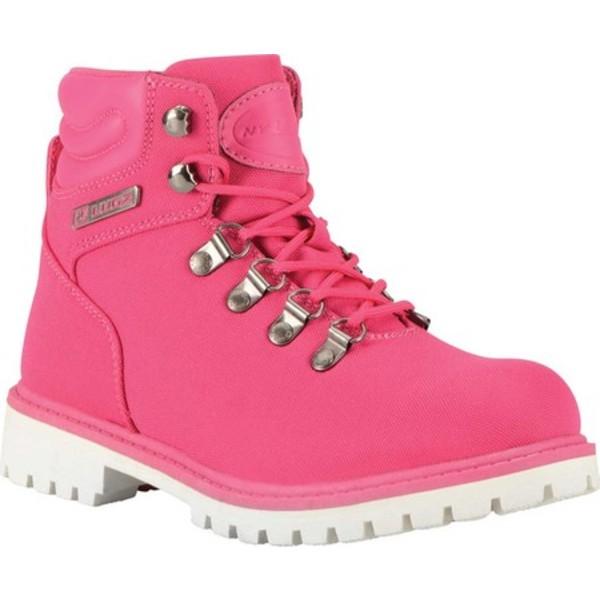 ラグズ レディース ブーツ&レインブーツ シューズ Grotto II Boot Deep Pink/White Synthetic Nubuck