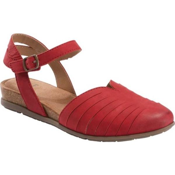 アースオリジン レディース サンダル シューズ Palomos Peyton Wedge Sandal Red Vintage Cookie II Nubuck
