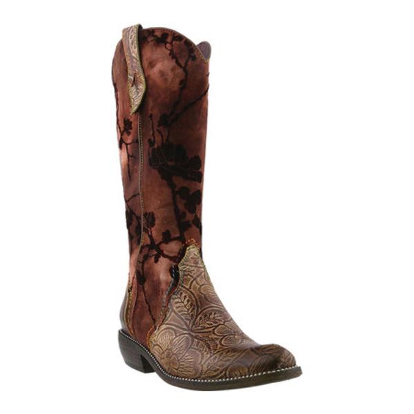 スプリングステップ レディース ブーツ&レインブーツ シューズ Laretilyn Cowgirl Boot Brown Leather/Textile