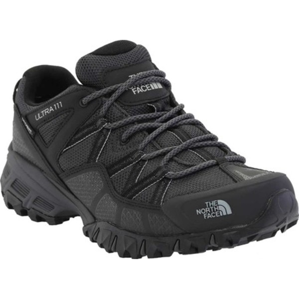 ノースフェイス メンズ スニーカー シューズ Ultra 111 Waterproof Trail Shoe TNF Black/Dark Shadow Grey