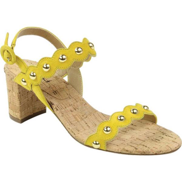ベネリ レディース サンダル シューズ Mavis Heeled Slingback Sandal Yellow Suede