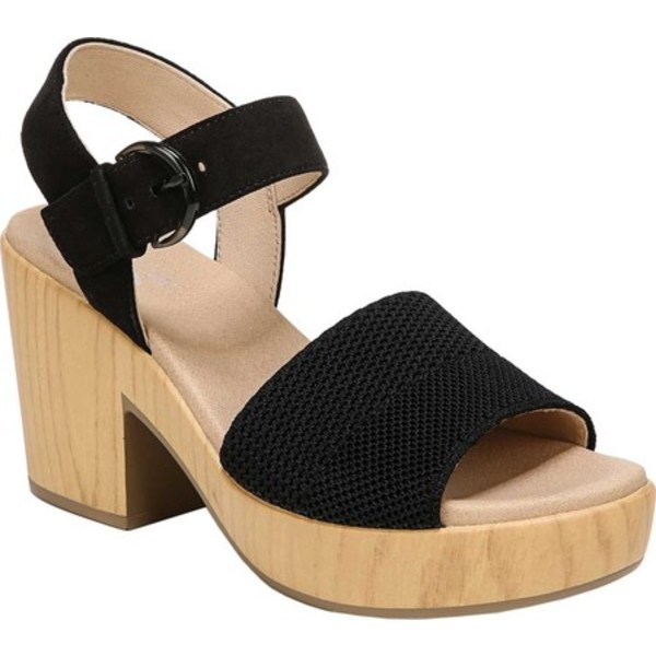 ドクターショール レディース サンダル シューズ Brickell Eco Platform Sandal Black Leather/Engineered Knit