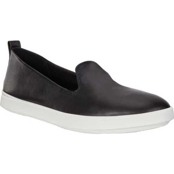 エコー レディース スニーカー シューズ Barentz Slip On Sneaker Black Full Grain Leather