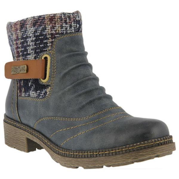 スプリングステップ レディース ブーツ&レインブーツ シューズ Citrine Ankle Boot Blue Synthetic Leather
