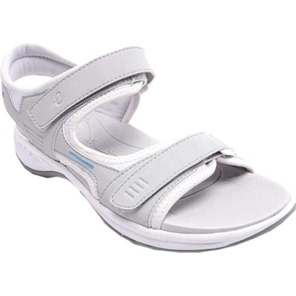 イージースピリット レディース サンダル シューズ Elate Sandal Light Grey Polyurethane/Stretch Silk Nuvola
