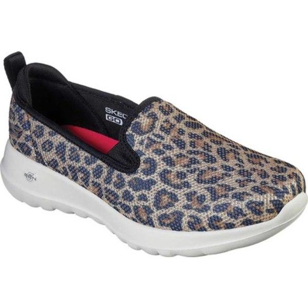 スケッチャーズ レディース スニーカー シューズ GOWalk 5 Joy Fiery Slip On Sneaker Leopard