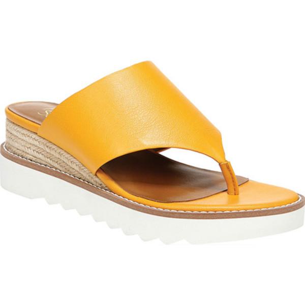 フランコサルト レディース サンダル シューズ Cramer Thong Wedge Sandal Goldenrod Bazini Leather