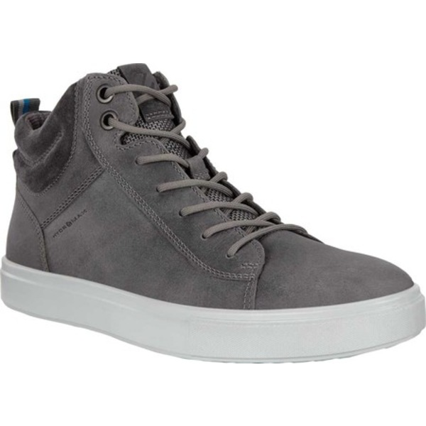 エコー メンズ スニーカー シューズ Kyle Waterproof High Top Sneaker Titanium Oil Nubuck