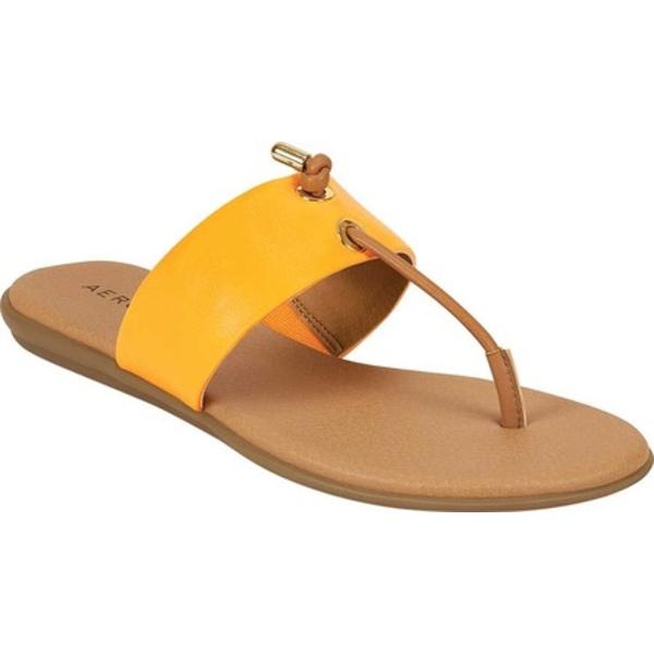 エアロソールズ レディース サンダル シューズ Crown Point Knotted Thong Sandal Lion/Marigold Combo Faux Leather