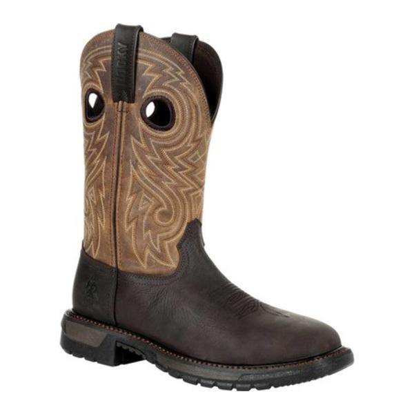 ロッキー メンズ ブーツ&レインブーツ シューズ Original Ride FLX Steel Toe Western Boot RKW0305 Dark Brown/Tan Full Grain Leather