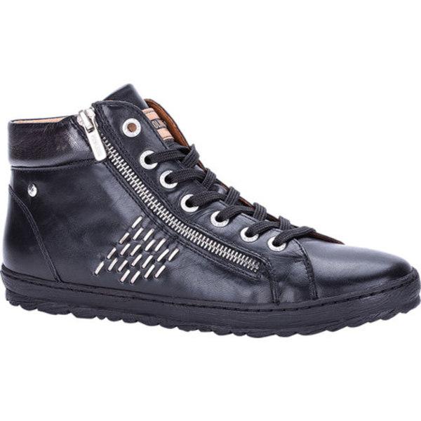 ピコリーノス レディース スニーカー シューズ Lagos High Top 901-8723 Black Leather