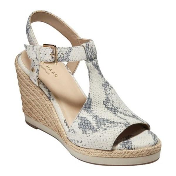 コールハーン レディース サンダル シューズ Cloudfeel Espadrille Wedge Sandal Natural Chalk Python Print Leather