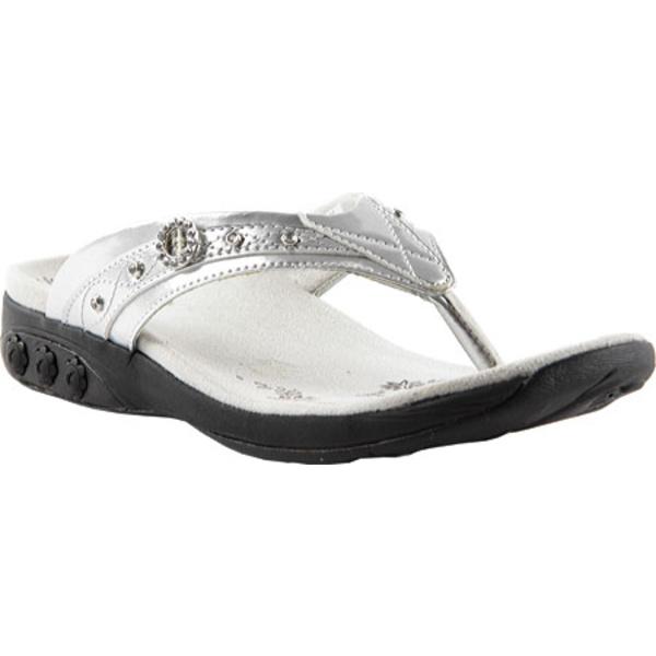ザラフィット レディース サンダル シューズ Brittany Sandal Silver Polyurethane