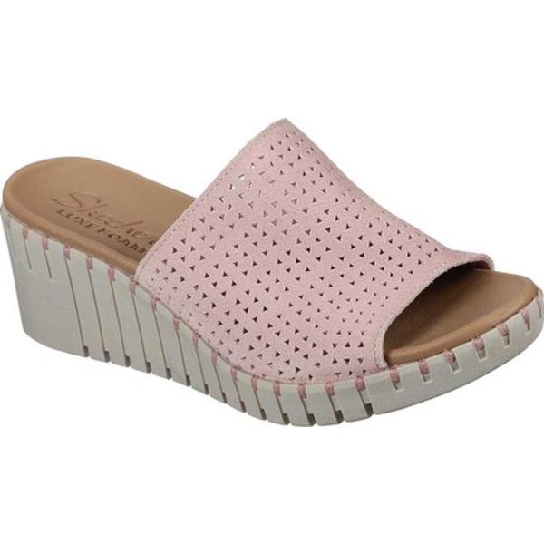 スケッチャーズ レディース サンダル シューズ Pier Ave Urban Escape Slide Wedge Sandal Pink