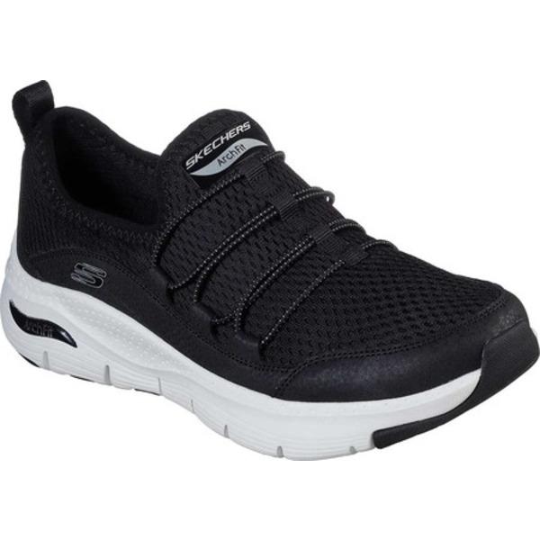 スケッチャーズ レディース スニーカー シューズ Arch Fit Lucky Thoughts Sneaker Black/White