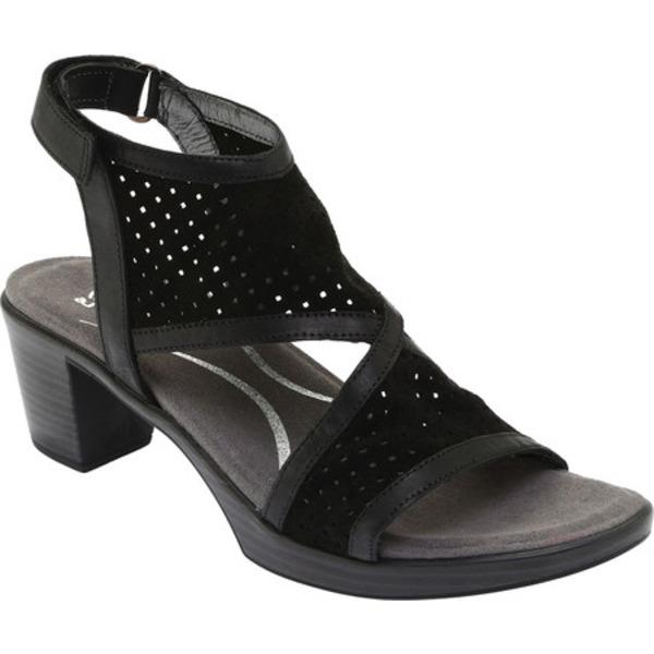 ナオト レディース サンダル シューズ Destiny Perforated Sandal Perforated Black Suede/Oily Coal Nubuck