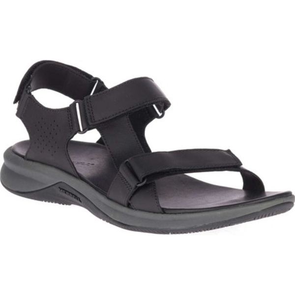 メレル メンズ サンダル シューズ Tideriser Luna Strap Active Sandal Black Full Grain Leather/Mesh