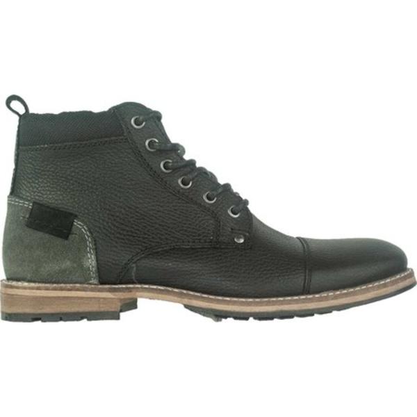クレボ メンズ ブーツ&レインブーツ シューズ Herc Cap Toe Boot Black Leather