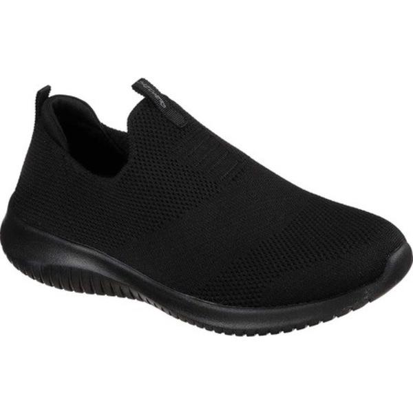 スケッチャーズ レディース スニーカー シューズ Ultra Flex First Take Slip-On Sneaker Black/Black