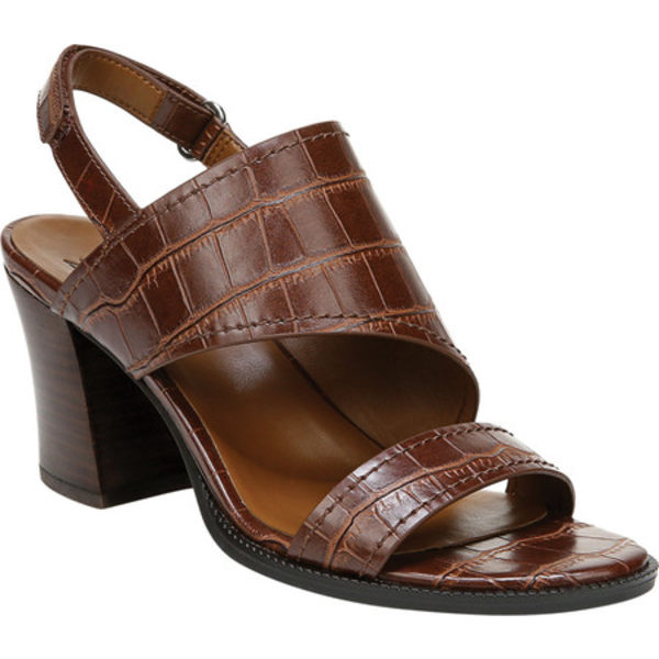 ナチュライザー レディース サンダル シューズ Raelynn Slingback Heeled Sandal Brown Croco Glazed Synthetic