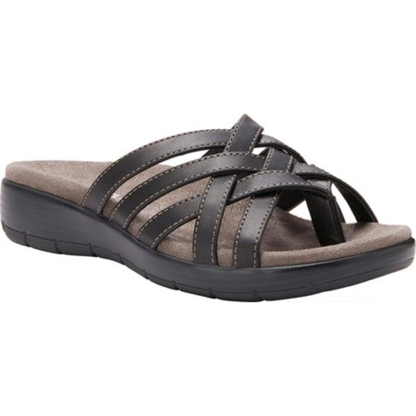イーストランド レディース サンダル シューズ Rae Woven Thong Sandal Black Polyurethane