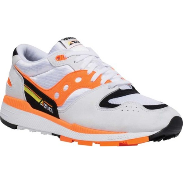 サッカニー メンズ スニーカー シューズ Azura Sneaker White/Orange/Black